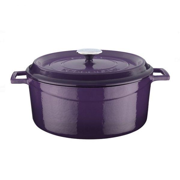 Osobitý hrnec LAVA ve fialové barvě, smaltovaná litina