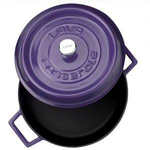 litinový hrnec smaltovaný fialový