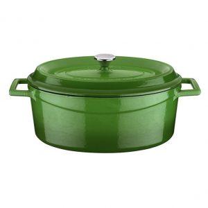 litinový hrnec smaltovaný zelený