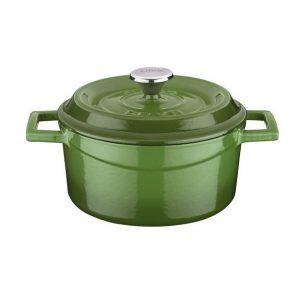 litinový hrnec zelený