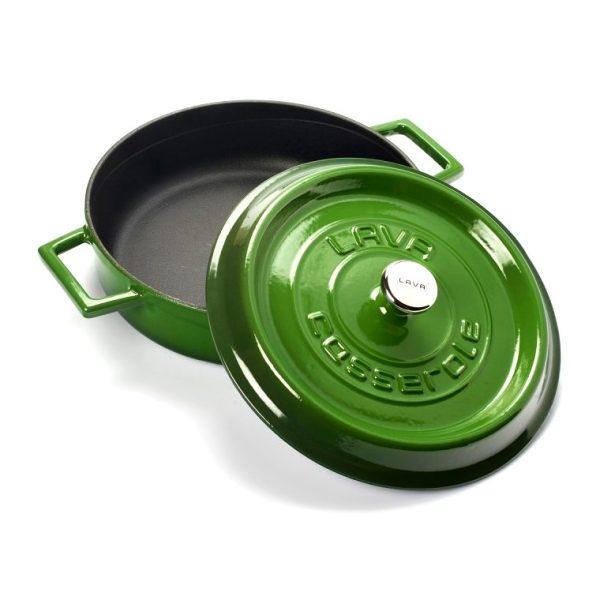 zelený smaltovaný hrnec