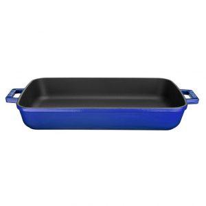 smaltovaný pekáč litinový modrý