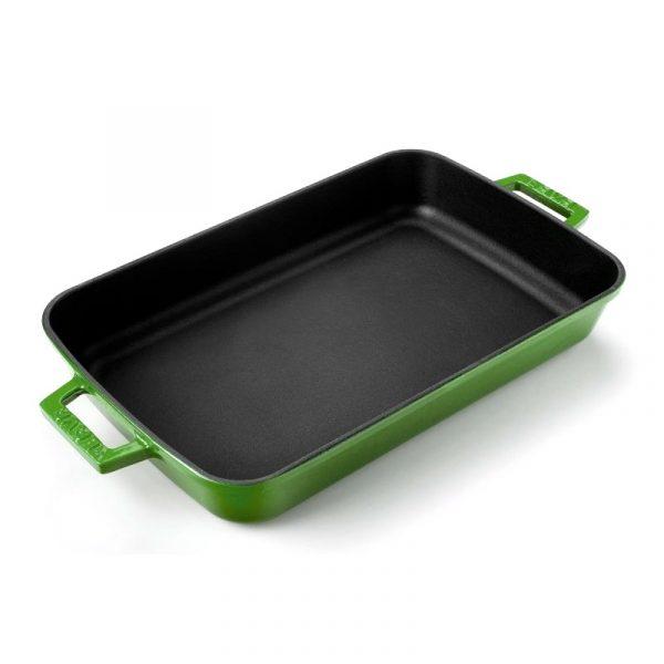 zelený smaltovaný pekáč litina