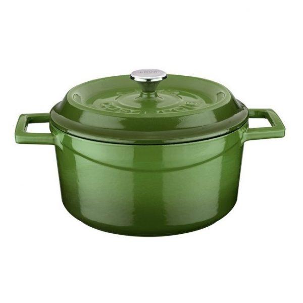 Zelený litinový hrnec LAVA smaltovaný