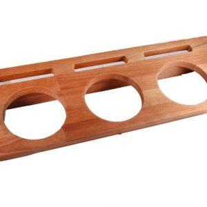 Dřevěný stojan na 3x hrnec průměr 10 cm od značky LAVA Metal