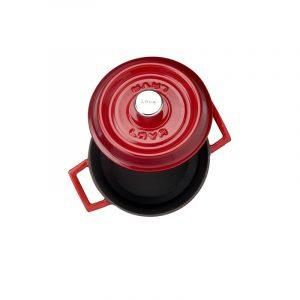 Litinový hrnec kulatý 16cm - červený od značky LAVA Metal