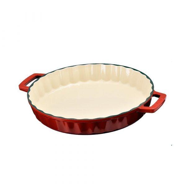 Litinová forma kulatá 30 cm - červená od značky LAVA Metal