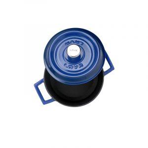 Litinový hrnec kulatý 18cm - modrý od značky LAVA Metal
