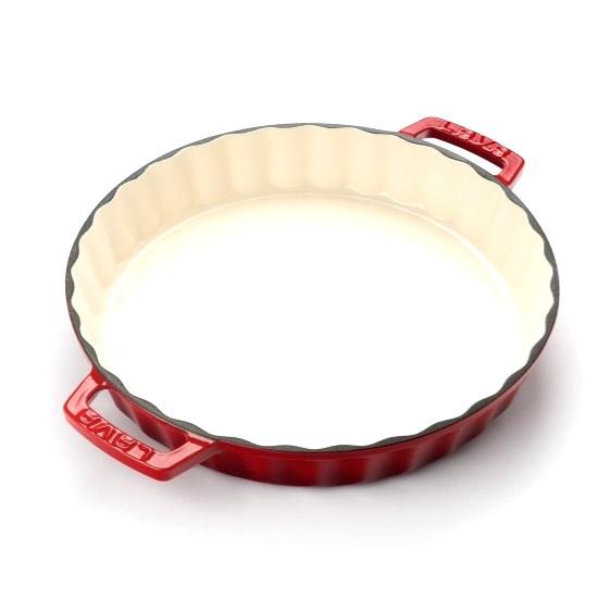 koláčová forma litinová červená