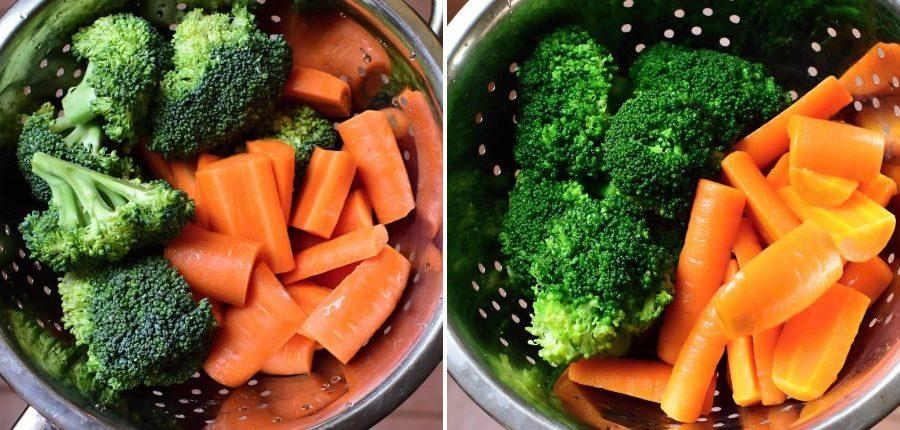 blanšírovaná zelenina rozdíly