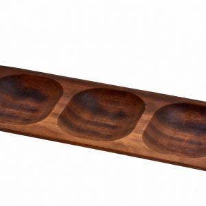 Lava wood - servírovací miska 15x35 cm od značky LAVA Metal