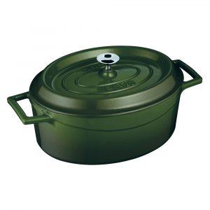 Litinový hrnec oválný 33cm - zelený od značky LAVA Metal