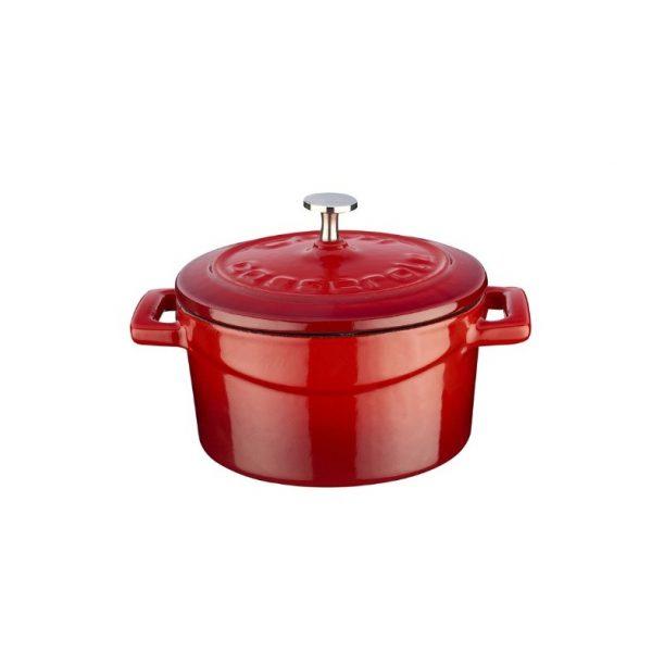litinový hrnec lava červený mini folk