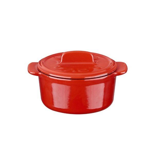 mini litinový hrnec červený