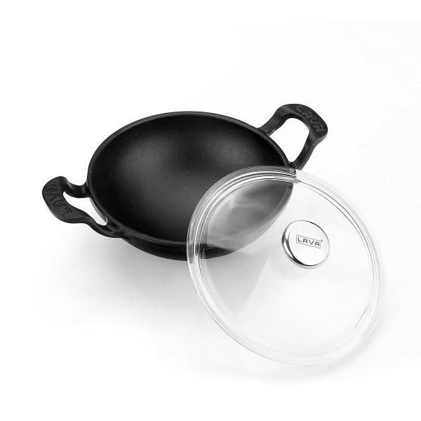 Litinový wok 16 cm - černý matný od značky LAVA Metal