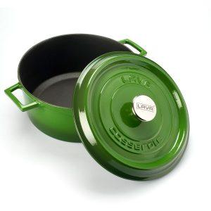 Litinový hrnec kulatý 24cm - zelený od značky LAVA Metal