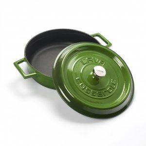 Litinový hrnec nízký kulatý 32 cm - zelený od značky LAVA Metal